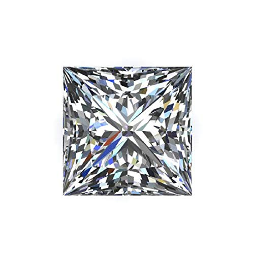 JEWELERYIUM 1.75CT Real Colorless Moissanite Diamond, VVS1 Clarity Moissanite Stone Princess Cut Brilliant Gemstone for Jewelry Making, Ring, Earrings, Necklaces, Watches from JEWELERYIUM