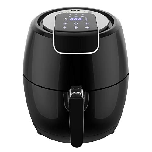 ROVSUN 6-in-1 Electric Air Fryer 4.8QT Capacity, 1500W Air Frying Technology with Temperature & Time Control, Removable Dishwasher Safe Basket, Includes Metal Holder and Cooking Tongs, ETL Listed For Sale