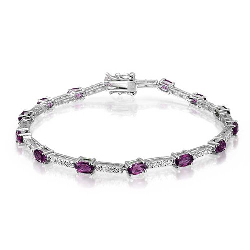 Bling-Jewelry-Vintage-Style-Color-CZ-Tennis-Bracelet-925-Silver-7in