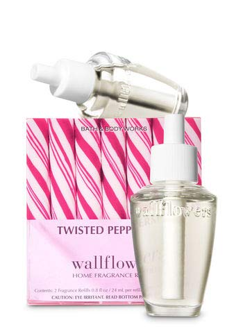 Bath and Body Works New Look! Twisted Peppermint Wallflowers 2-Pack Refills