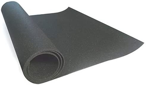 Reversible Technoflex TechnoFloor Black Rubber All-Purpose Mat 36 in x 60 in