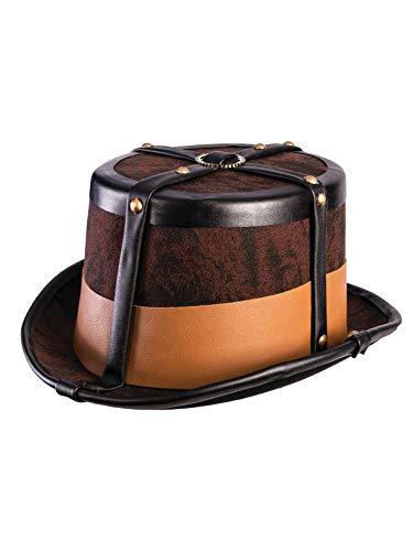 Forum Novelties Unisex-Adult's Steampunk Top Hat-No Goggles, Multi, Standard -