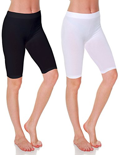 Knee Length Spandex Shorts - 6