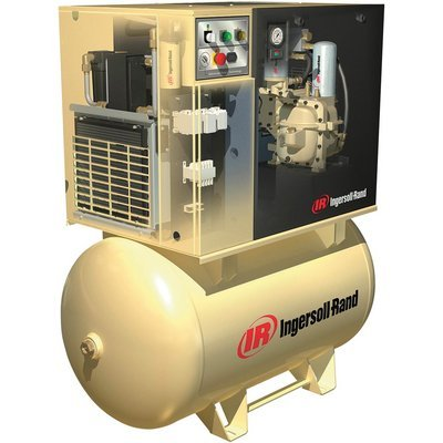 - Ingersoll Rand Rotary Screw Compressor w/Total Air System - 230 Volts, 1-Phase, 7.5 HP, 28 CFM, Model# UP6-7.5TAS-125