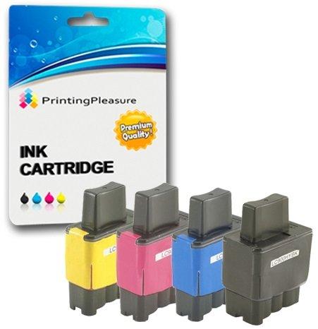 4 Cartuchos de Tinta compatibles para Brother DCP-110C 115C 117C 120C 310C 310CN 315CN 340CW Fax-1840C 1940CN 2240C MFC… 2