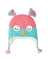 Mountain Warehouse Owl Knitted Kids Winter Hat - Fleece Lined Beanie