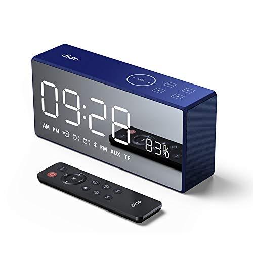 OOLIFENG Digital Alarm Clock with Snooze, Adjustable Brightness Dimmer, 12/24 Hr, for Small Desk Bedroom Bedside Clocks,Blue