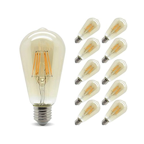 LUMiLiFE 6 W E27 LED Reflector Bulb 10 Pack Dimmable Cool White 40 W Replacement