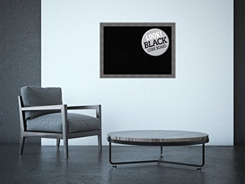 Amanti Art Framed Black Cork Board Dixie Grey Rustic: Outer Size 30 x 22'', Large by Amanti Art (Image #3)