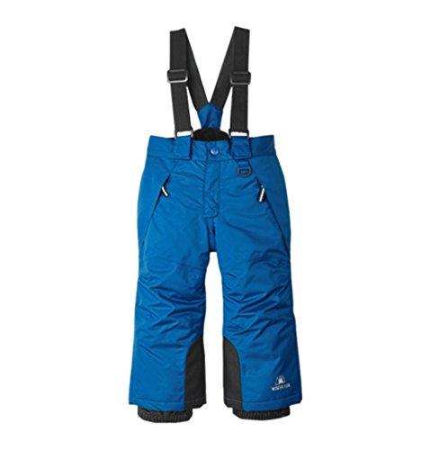Pantalon de Ski pour Enfants Pantalon à Bretelles Salopette de Neige Imperméable pour Les Sports d'hiver