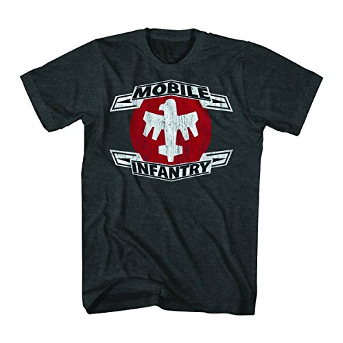 Price comparison product image Starship Troopers Mobile Infantry Mens Charcoal Grey T-Shirt | 2XL