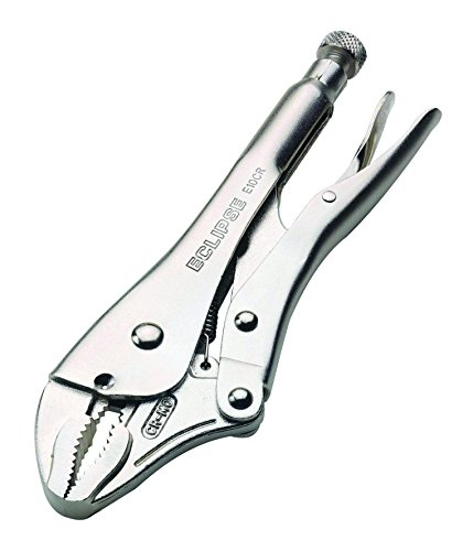 Eclipse E10CR Curved Jaw Locking Pliers, Chrome Molybdenum Steel, 10'' Size, 1-7/8'' Jaw Capacity by Eclipse