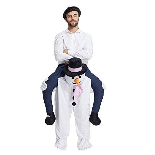 Yeahbeer Ferroutage Sur Le Costume Adulte Épaule D'équitation Me Porter Unisexe Taille Adulte Robe Fantaisie (bonhomme De Neige)
