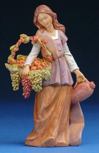 Fontanini Bethany Woman with Grapes Italian Nativity Village Figurine 57526 New