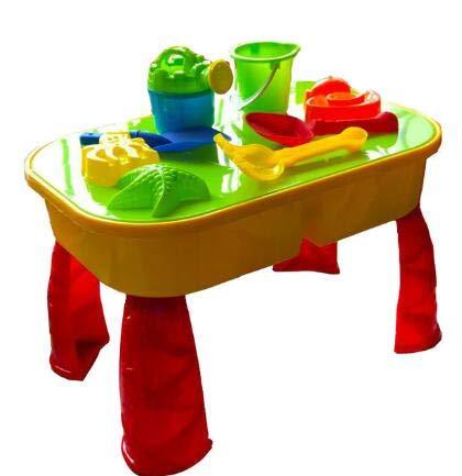 Summer Fun mesa de arena y agua, mesa de plástico para exteriores ...