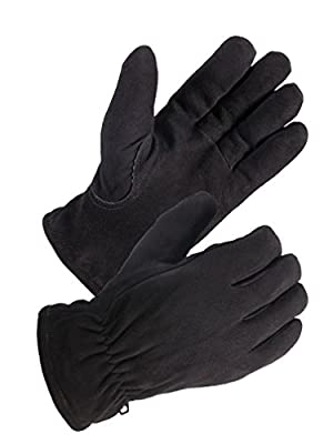 SKYDEERE -20°F Cold-proof Winter Work Glove with Deerskin Suede Leather for Outdoor Sport and Work Glove (S/M/L/XL Fit for Men & Women)