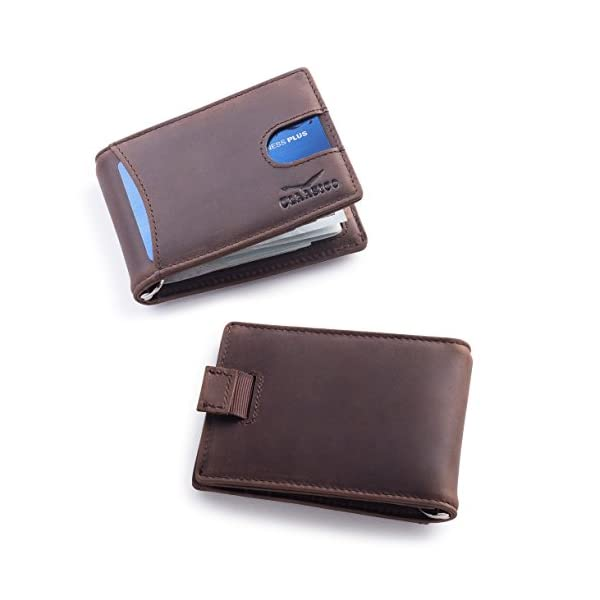 Super Slim RFID Leather Wallet For Men Card Holder With Money Clip Prefect For /&