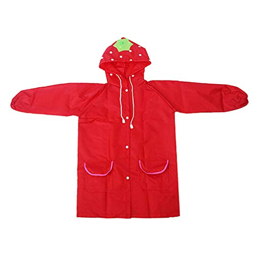 Prettyia Autumn Winter Toddler Hooded School Backpack Rain Ponchos Jacket Raincoat