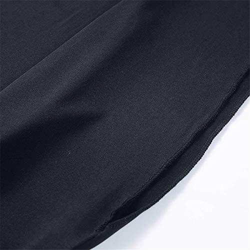 Kalinyer Women Elegant Jumpsuits,Women Loose Solid Color V Neck Long Sleeve Hollow Out Jumpsuit Playsuit(Black,XXXXXL) by Kalinyer (Image #5)