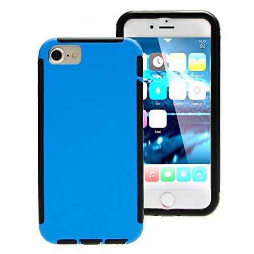 Touch Case Schutz Hülle Displayschutz 360° Full Cover rundum Schutzhülle Tasche Bumper Etui Schale Hard Case Apple iPhone 7 Blau