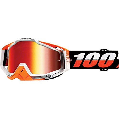 100% Racecraft Ultrasonic Men's Off-Road/Dirt Bike Motorcycle Goggles Eyewear - Red /Mirror / One Size (Stars Off Road Goggles)