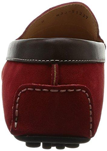 Florsheim Comet - Mocasines de otras pieles hombre Rojo - Rouge (Red Suede/Dark Brown Calf)