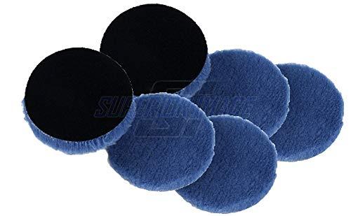 Lake Country Hybrid Wool Buffing/Polishing Pad (6.25'' x 1'') 6PK