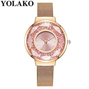 Ausexy Classic Stainless Steel Quartz Women Wrist Watch (30mm)