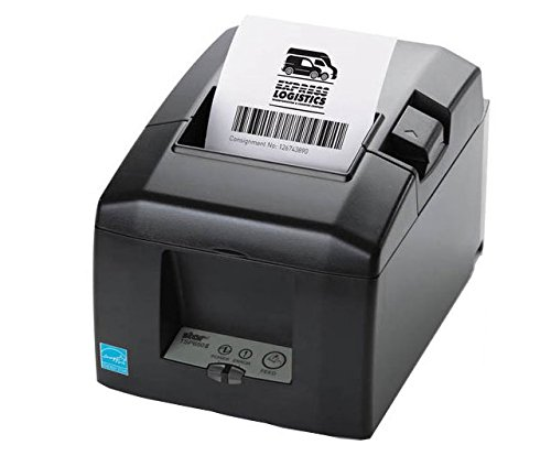 Star Micronics TSP650II Bti Bluetooth Thermal Receipt Printer, Cutter, Bluetooth for IOS Android Windows, Gray - Power supply Included