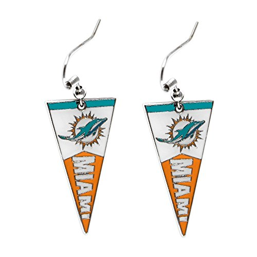 - NFL Miami Dolphins Pennant Earrings