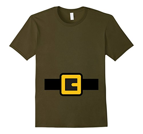 Halloween Group Costume Ideas Cheap (Mens Dwarf Costume Shirt, Halloween Matching Shirts for Group 2XL Olive)