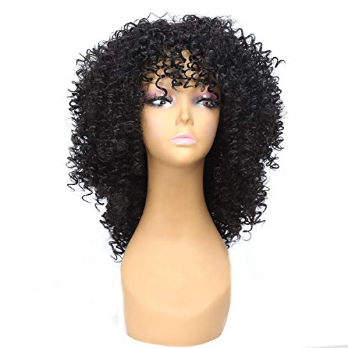 Wig Synthetic Curly wig for Women With Baby