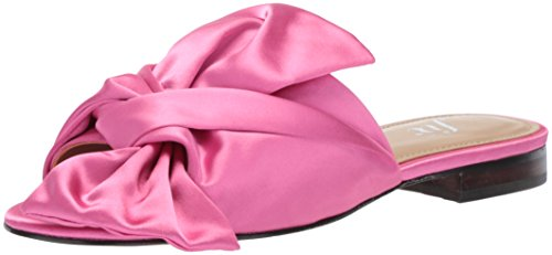 - The Fix Women's Naomi Oversized Bow Slide Sandal Flat, Bubble Gum Pink Satin, 8 B US