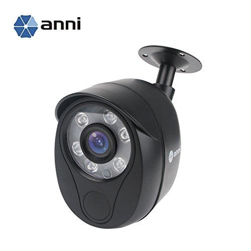 1080P 1200TVL NTSC Home Surveillance CCTV Bullet Security Camera Weatherproof, 3.6mm Lens with IR Cut 65ft IR Distance, Aluminum Metal Housing