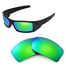 Walleva Replacement Lenses for Oakley Gascan Sunglasses -Multiple Options (Emerald Mirror Coated - Polarized)