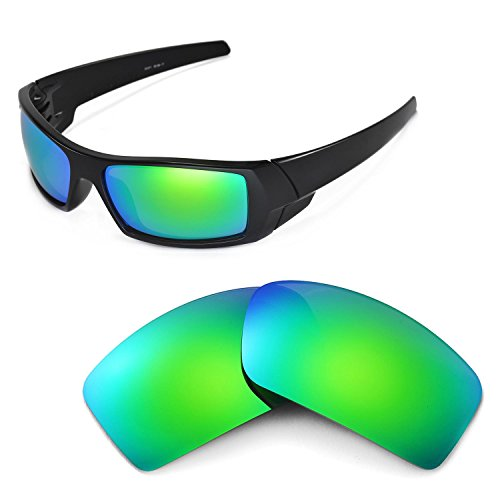 Walleva Replacement Lenses for Oakley Gascan Sunglasses - Multiple Options Available (Emerald Mirror Coated - - Polarized Lenses Gascan Oakley