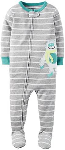 Carters Baby Boys Snug Fit Cotton Footie Pajamas Gray Sloth, 2T