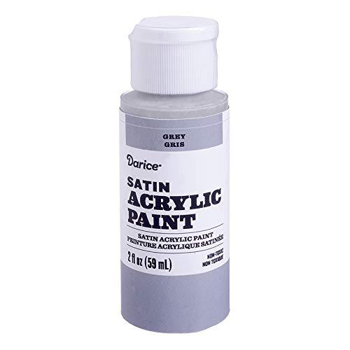 Darice 30062617 Satin Grey, 2 Ounces Acrylic Paint, (Best Light Grey Paint)