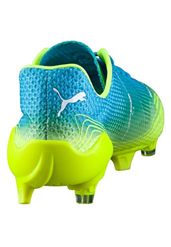 Bota de fútbol Puma evoSpeed Fresh FG Atomic blue-Safety verde