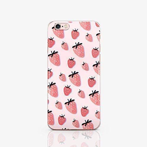 Strawberry iPhone Cell i Phone Clear Case for Apple iPhone 10 X XS Max XR 8 8s 8 plus 7 6 6S 6 plus 7 plus 6 splus 7 plus 7s Plus 4 4S 5 5S 5C SE 5se Cases Art Design Fruits Cover ma1416