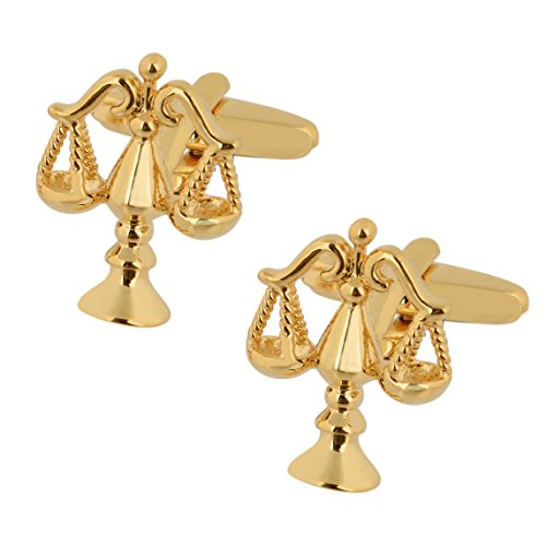 Gold Plated Scales of Justice Cufflinks (Gold Plated Justice)