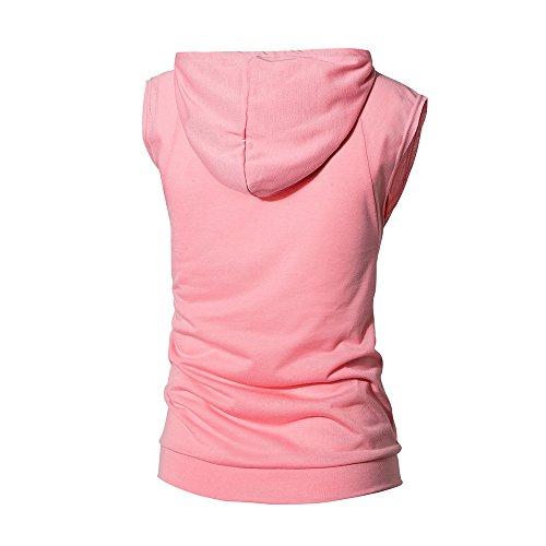 Courtes T D'été Pour Chemisier Mode shirt Pure Rose À Capuche Manches Hommes Casual Color Morchan qUI7x8Yw