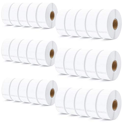 (30 Rolls DYMO 30252 Compatible 28 x 89 mm (1-1/8 x 3-1/2) White Address Mailing Labels 350/Roll for LabelWriter 330 400 450 Duo Twin)
