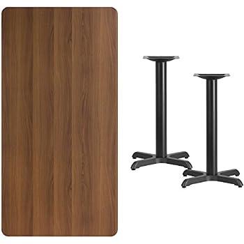 Flash Furniture 30u0027u0027 X 60u0027u0027 Rectangular Walnut Laminate Table Top With 22