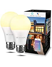 LE E27 Smart Light Bulb, Works with Alexa and Google Home, Warm Whtie