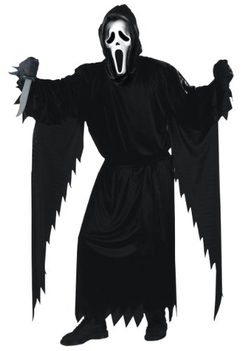 [Fun World Costumes Adult Scream Costume, Black, One Size] (Scary Movie Costumes For Sale)