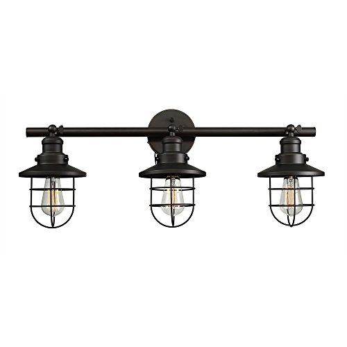 Globe Electric Beaufort 3-Light Wall Sconce, Dark