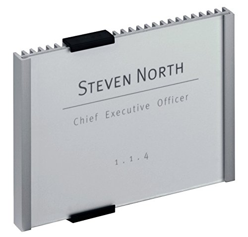 Durable Information Sign for Door and Walls, 149×105.5mm (Silver)