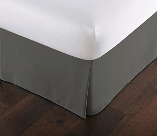 Lux Decor Collection Bed Skirt Long Staple Fiber - Durable,