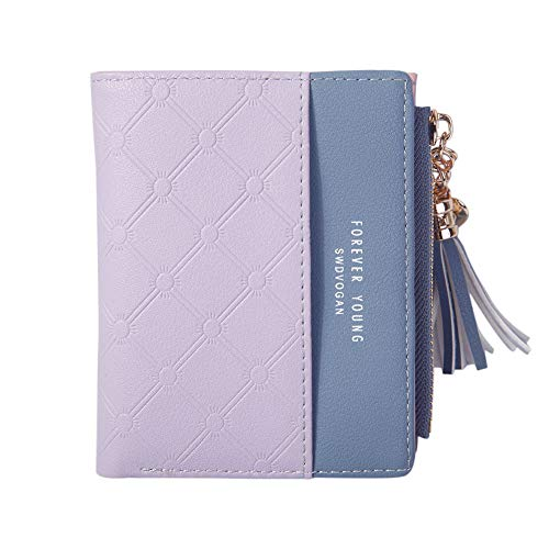 (PURETINN Women's RFID Mini Blocking Leather Wallet Bifold Multi Card Case Pocket Small Purse with Snap Closure)